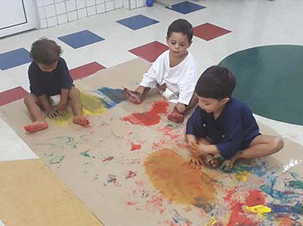 Pintura  Alunos do Infantil 1 A e Infantil 2 A